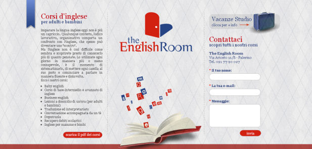 The English Room - Sviluppo sito web